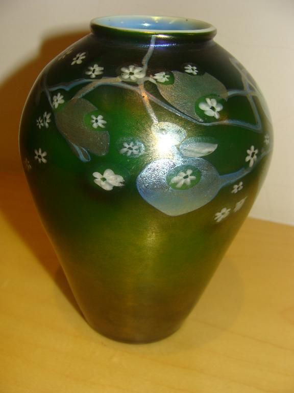 Tiffany Studios Tiffany Glass Favrile Glass Millefiore Vase Hand