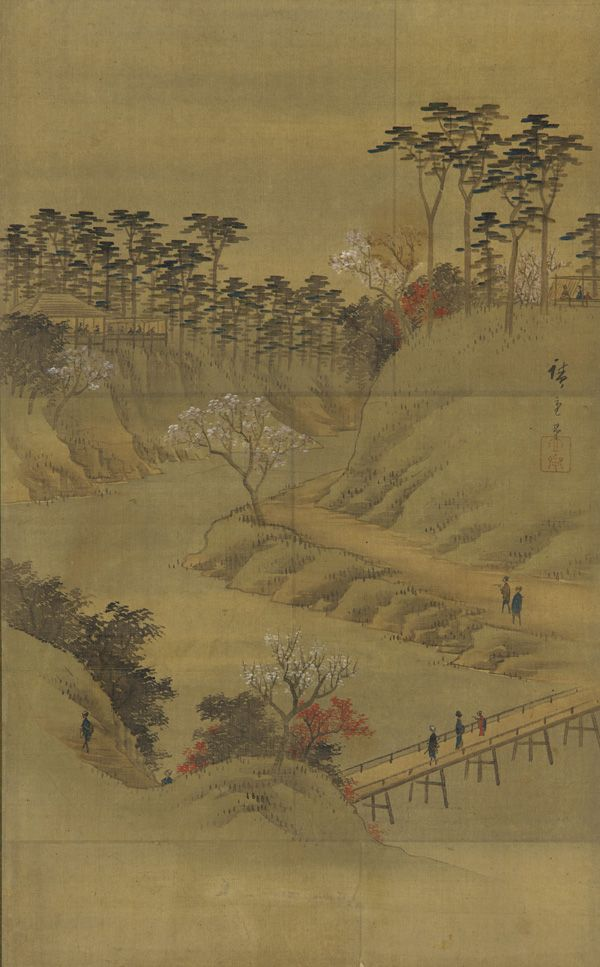 Utagawa Hiroshige II - Japanese Art | Landscape of the season: summer |