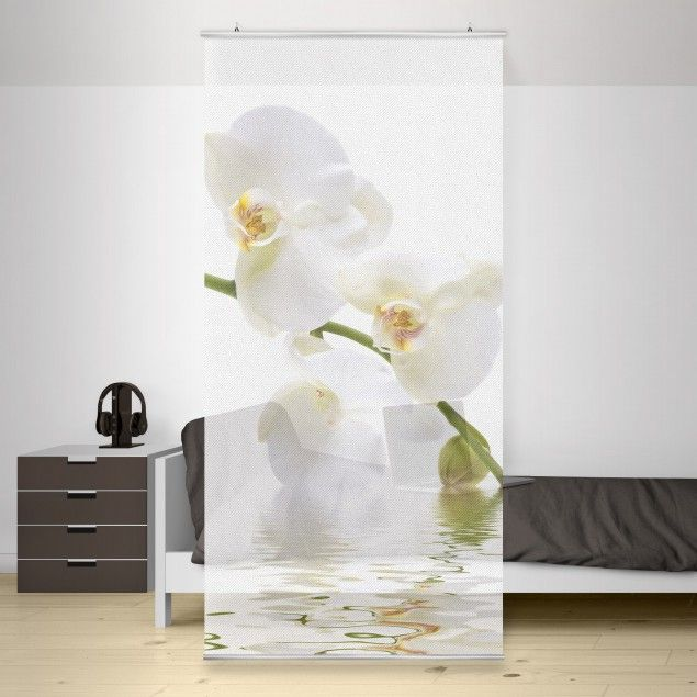 Raumteiler | Vorhang   White Orchid Waters 250x120cm#Schiebegardienen # Schiebevorhang #Vorhang #Raumtrenner Awesome Design