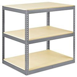 """Wide Span Storage Rack - Particle Board, 48 x 36 x 48"""" H-5293"""