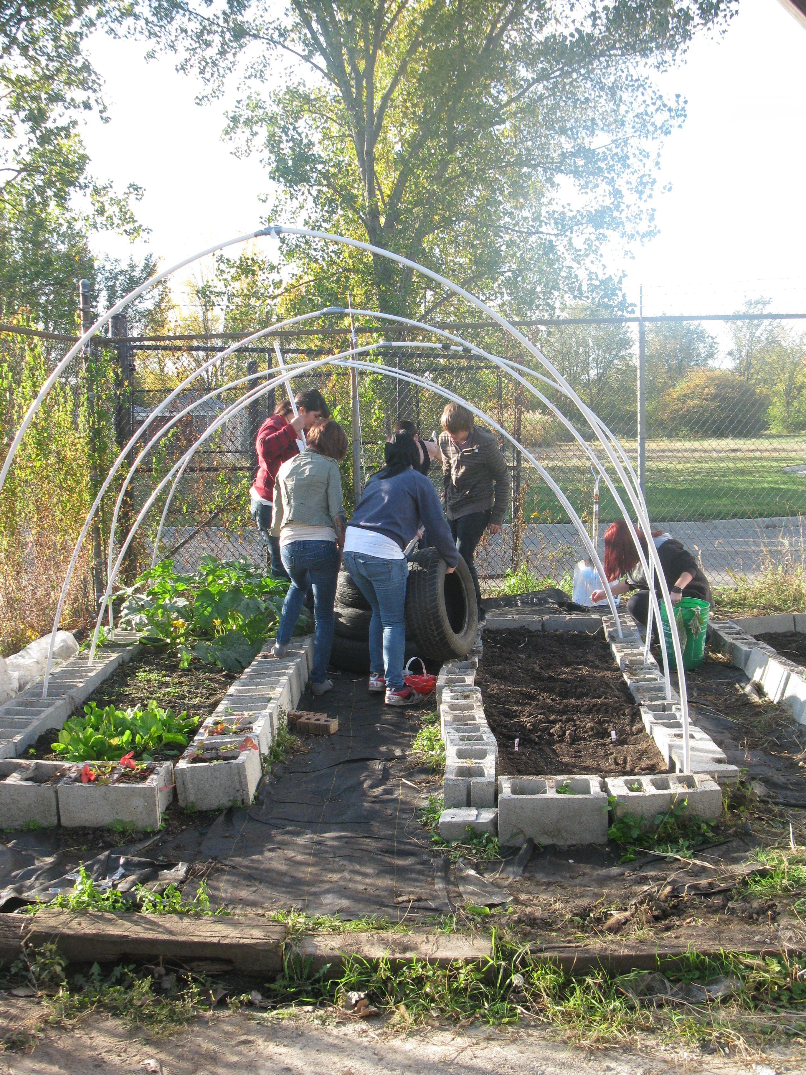 Garden Ideas How Easy Put The Pvc Or Conduit Poles