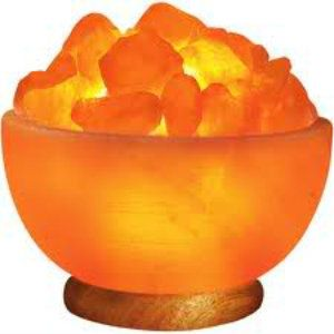 Himalayan Natural Crystal Rock Ionic Salt Lamp Fire Bowl.