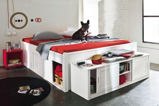 rangements chambre s lection de lits avec rangements lit avec rangement int gr lit tiroir. Black Bedroom Furniture Sets. Home Design Ideas