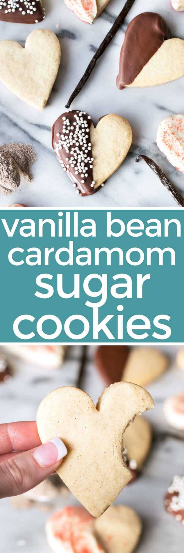 I could easily make these vegan! I want to try them... Vanilla Bean Cardamom Sugar Cookies – Cake 'n Knife
