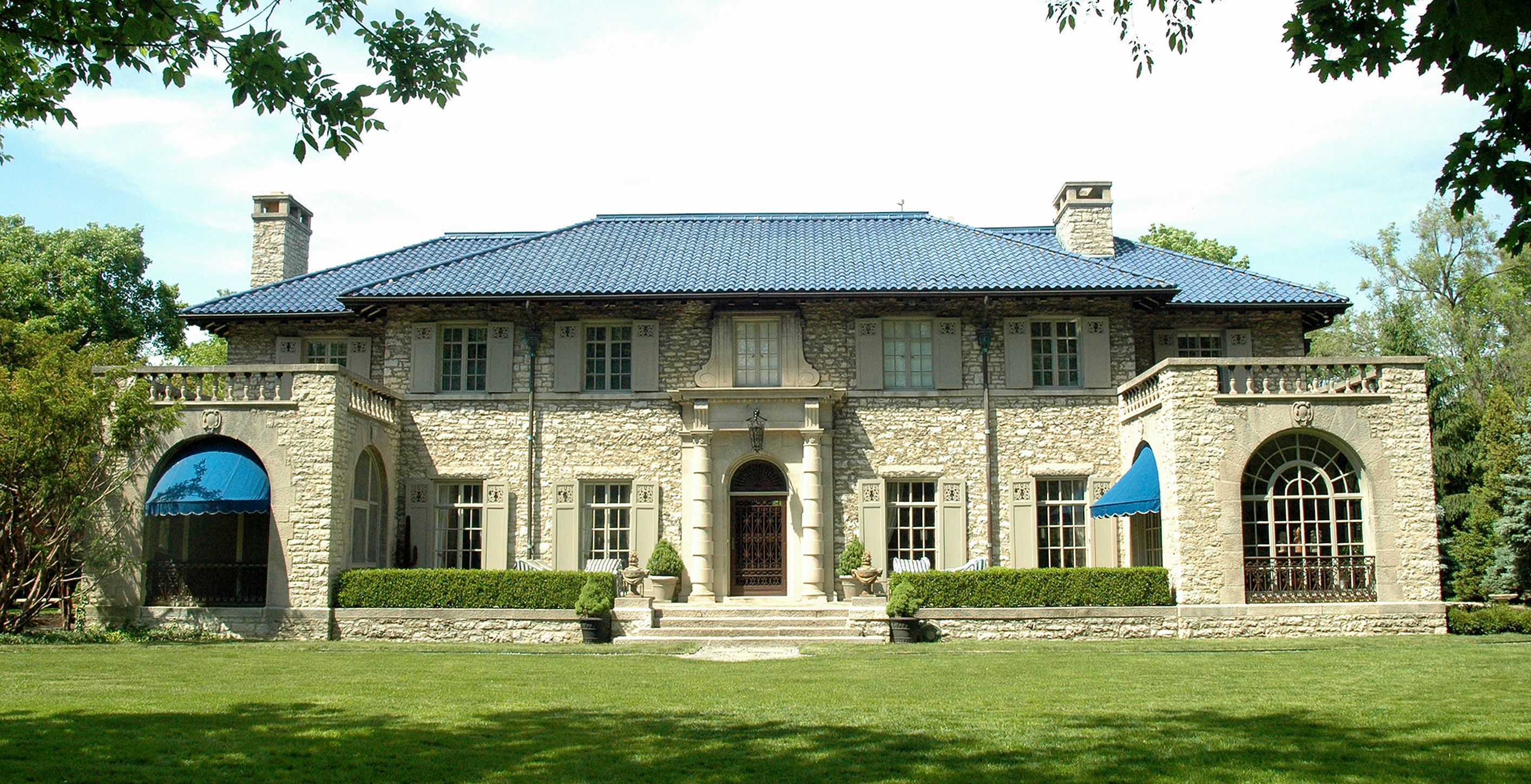 This Blue Tile Roof Was Done By The Durable Slate Company Casas Hogar Deco