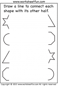 preschool thinking skills   Pre-K Shape Worksheets/Crafts ...