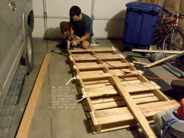 Pallet Tutorials Diy Twin Pallet Bed Instructions Dream House