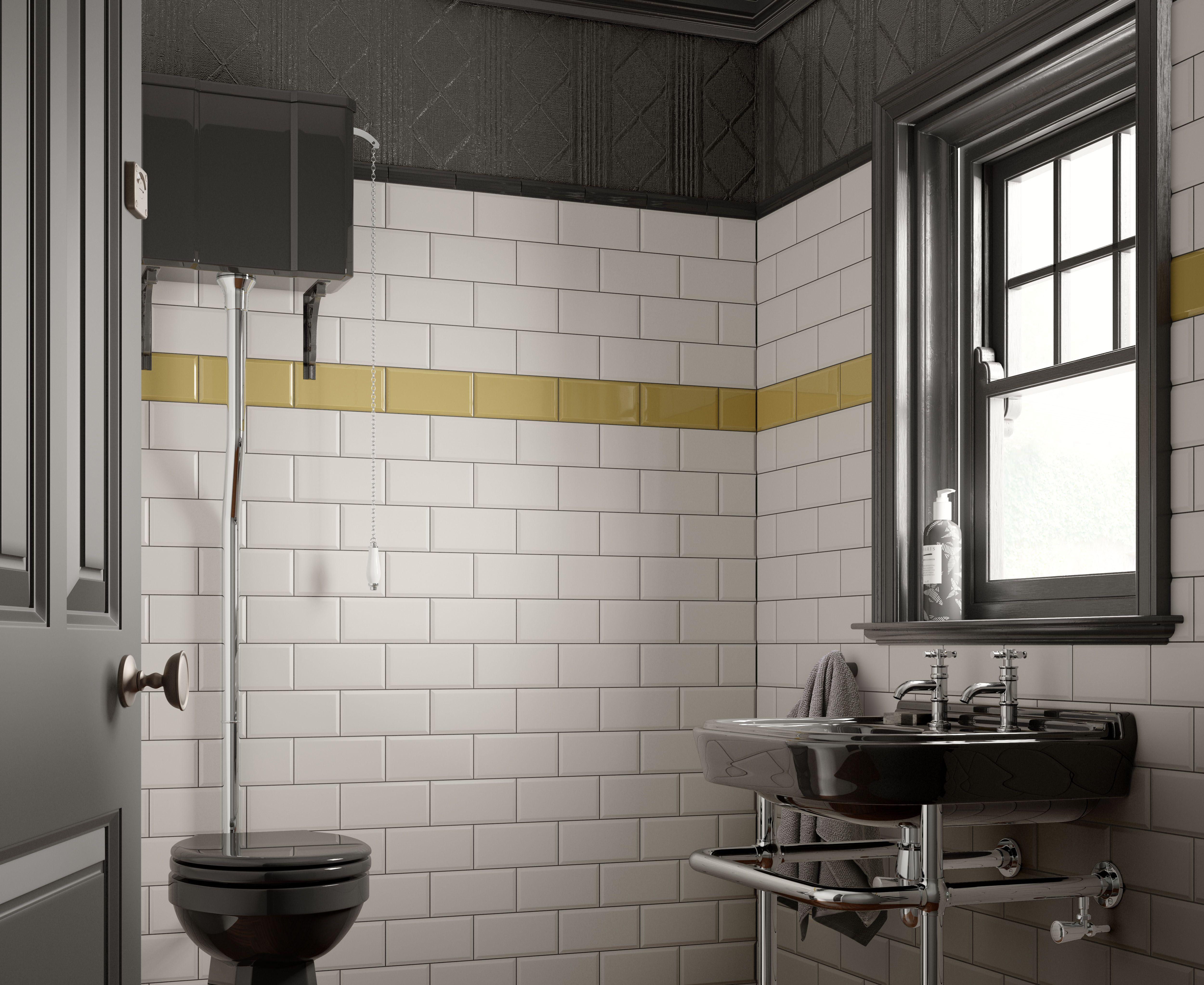 Deep Metro White Tile Spring Sale Bathroom Diyweekend Tile Cheap Bathrooms Wall Tiles Bathroom Wall Tile