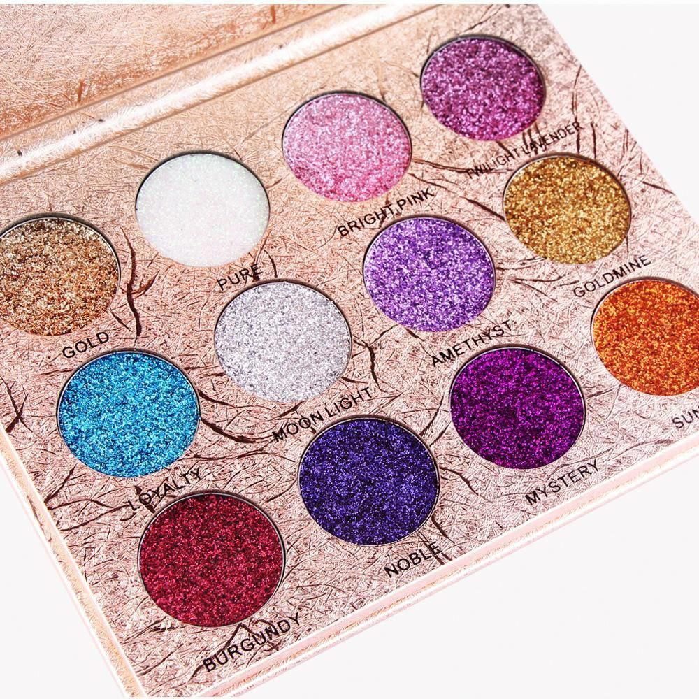 Brand New 12 Colors Glitter Eyeshadow Diamond Pressed