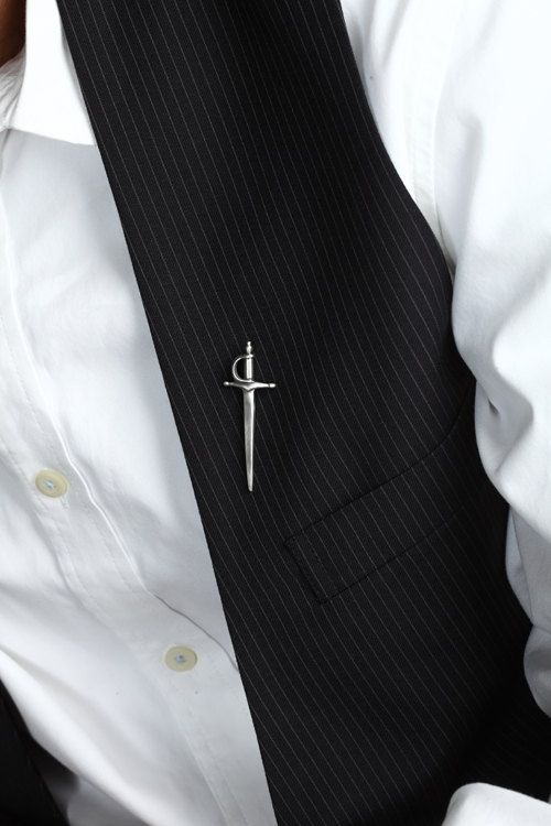 fathers day gift, Sword Pin in Sterling Silver – Men's Lapel Pin | Mens  jewelry, Brooch men, Lapel pins mens