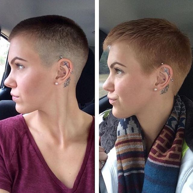 for haircuts women shaved Buzzed