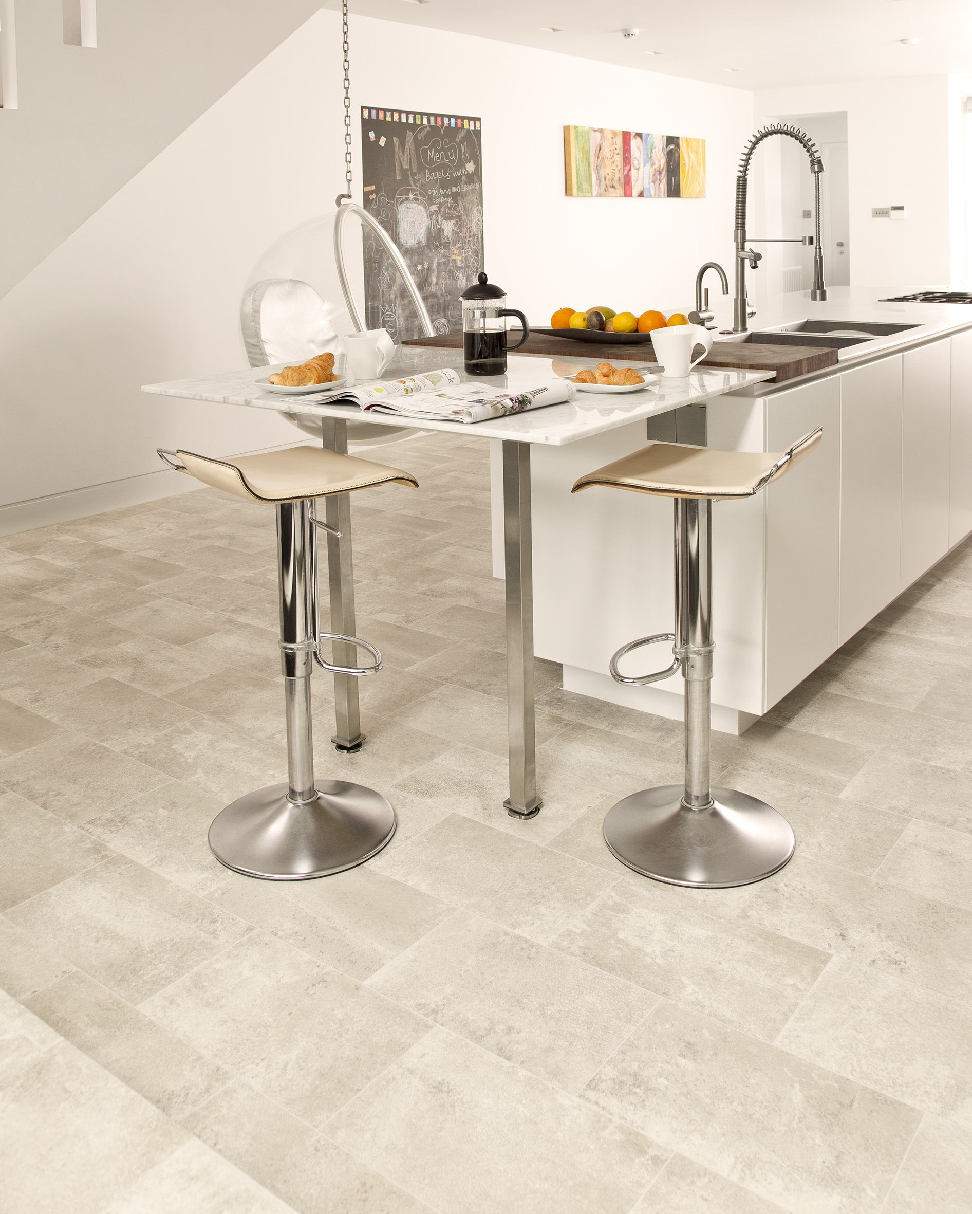 Our Nepal Flooring Plays Its Part In This Light And Airy Kitchen