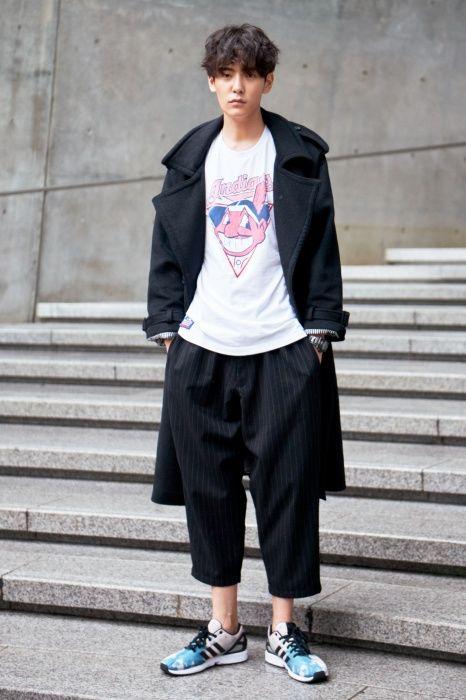 Street Style Jo Min Ho At Seoul Fashion Week Spring 2015 Pinstripes Pinterest Seoul