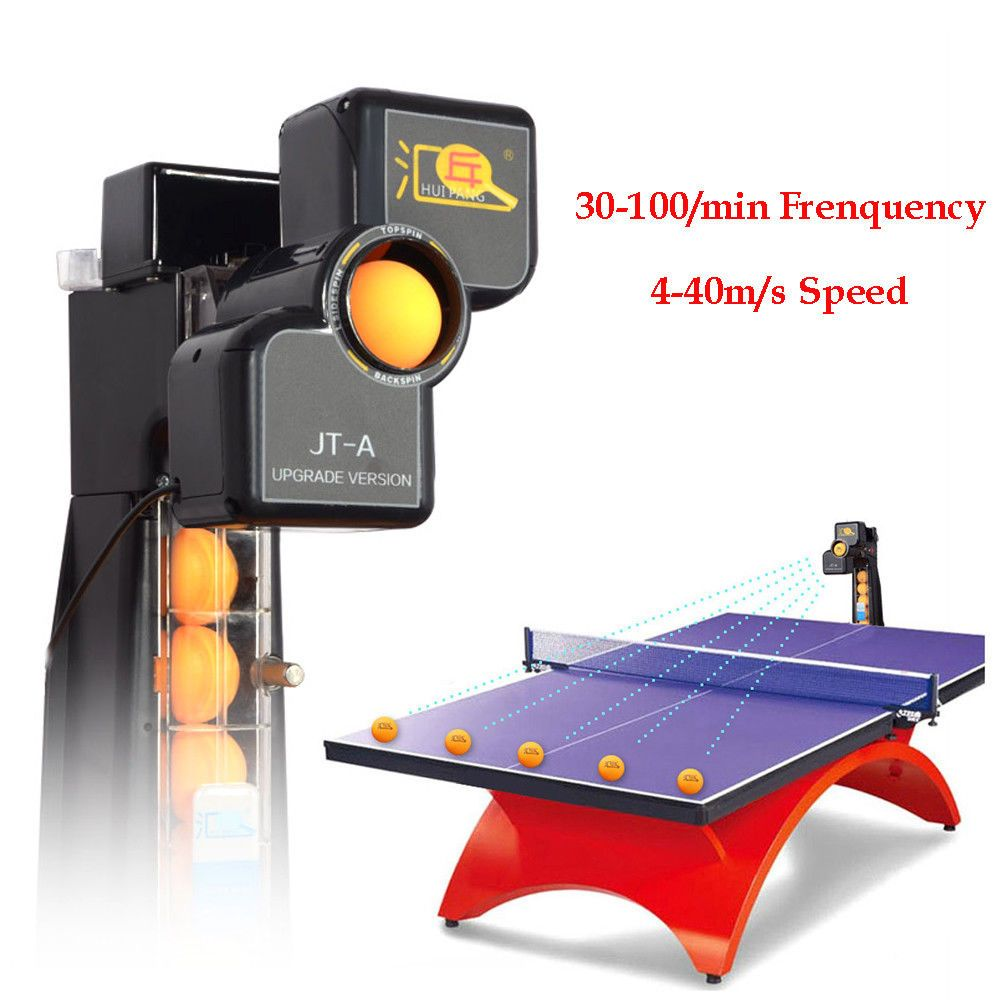 Table Tennis Robot Automatic Ping Pong Ball Machine Training Practice Recycle Us