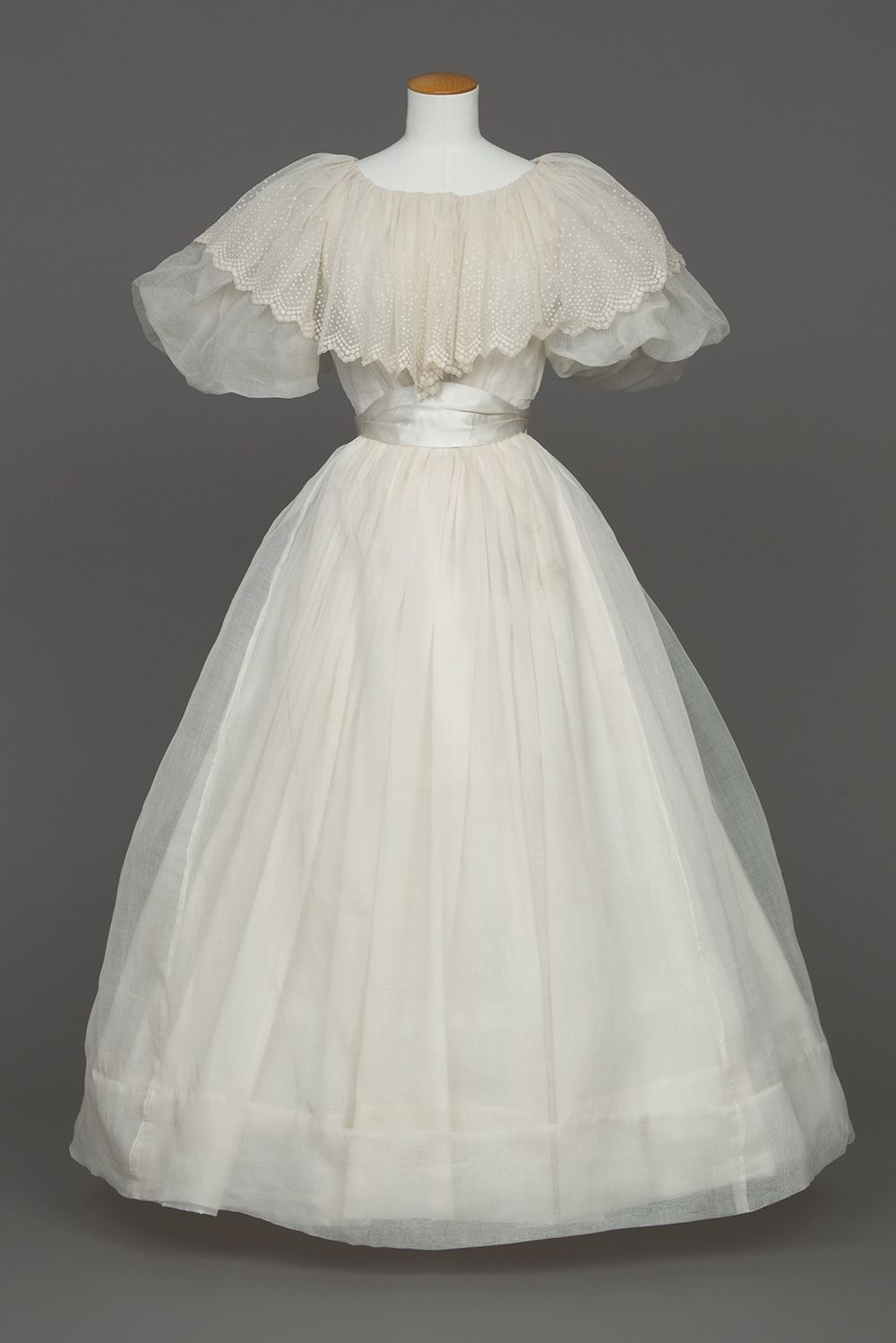 1895 organdy Wedding Dress | Goldstein Museum of Design | ~My ...