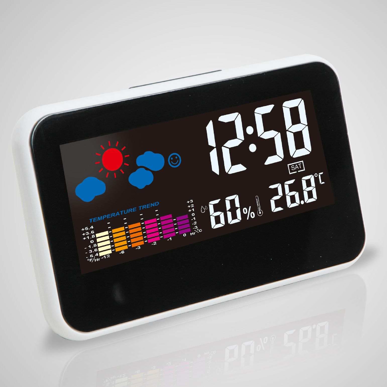 Digital Electronic Alarm Clock Weather Temperature Humidity