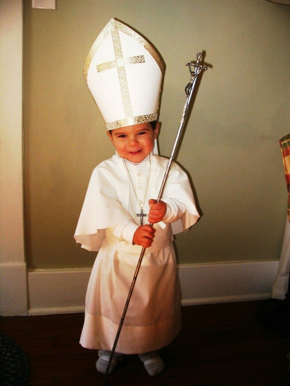 Disfraz para niño de papa