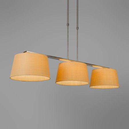 pendelleuchte combi delux 3 schirm rund 30cm beige. Black Bedroom Furniture Sets. Home Design Ideas