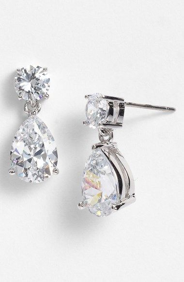 Cubic Zirconia Teardrop Earrings Nordstrom Wedding and Wedding