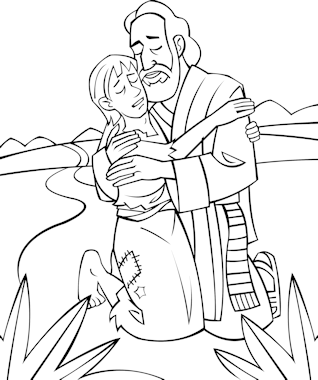 Prodigal Son Coloring Book Page