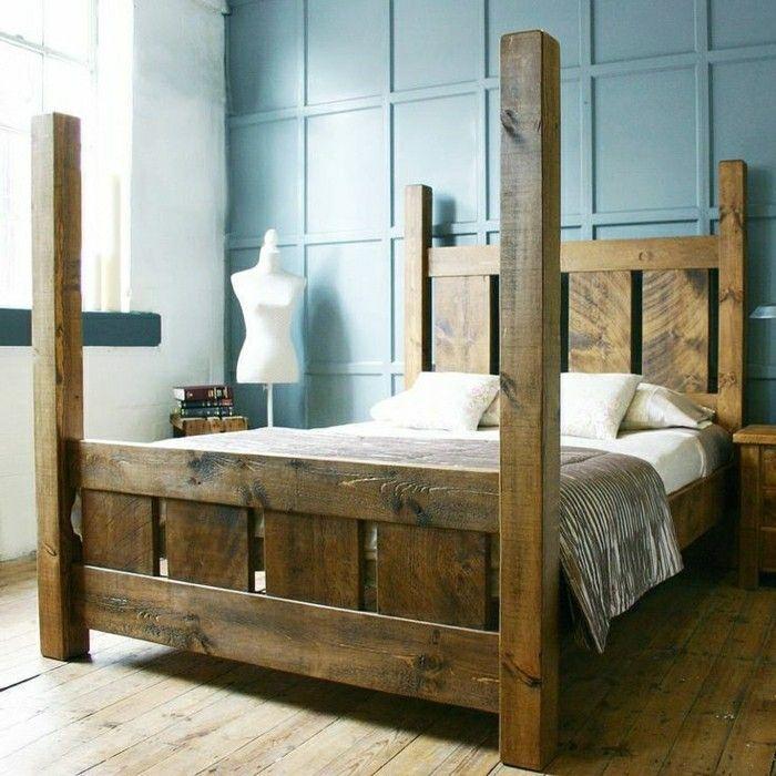 Massivholzbetten rustikal  Massive Möbel - ein rustikaler Ausblick für jedes Zuhause - Archzine ...