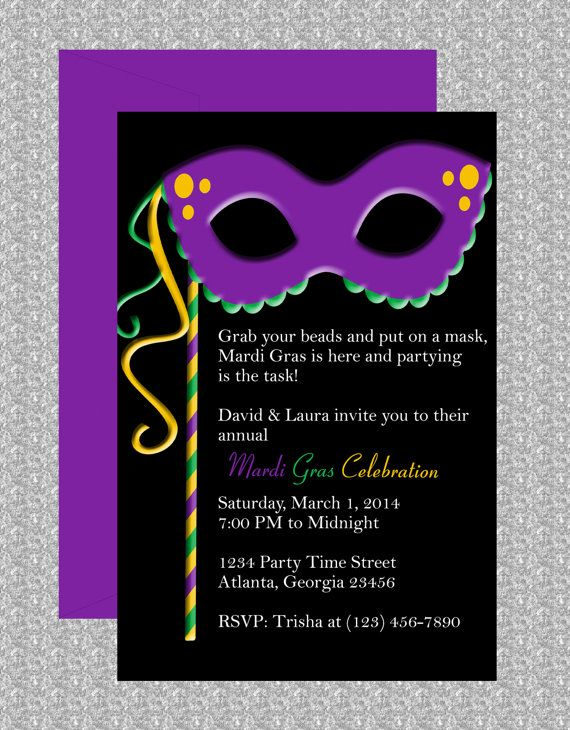 Mardi Gras Mask Invitation. Invitation TemplatesInvitation DesignMardi Gras  MasksMicrosoft Word ...  Microsoft Word Templates Invitations