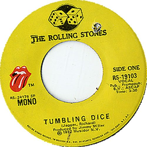 For Sale Rolling Stones Tumbling Dice Usa 7 Quot Vinyl
