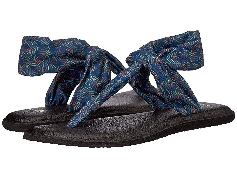 5810b1871 Sanuk Yoga Sling Ella Prints (Navy Paradise Palms) Women s Sandals.  Superior comfort and