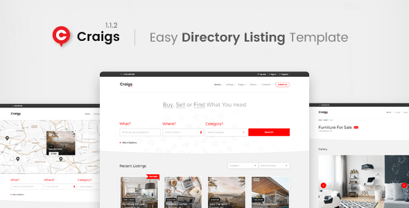 Craigs - Directory Listing Template - #airbnb #bootstrap-4