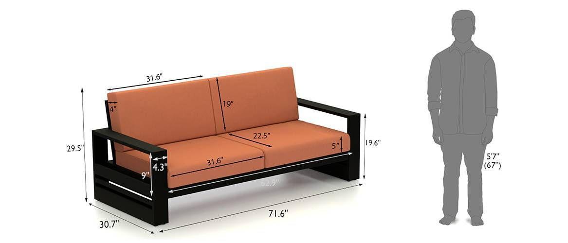 Savannah Wooden Sofa (Macadamia Brown) In 2020 | Wooden Sofa, Sofa Material, Clean Sofa