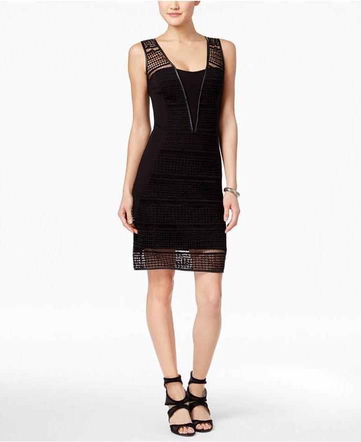 https://goo.gl/1e9Lvv #ootd #Dress #Blogger JAX Crochet Sheath Dress
