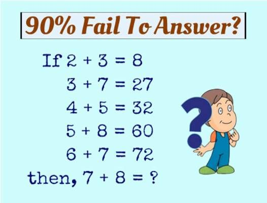 90 Fail To Answer If 2 3 8 3 7 27 4 5 32 5 8 60 With Images