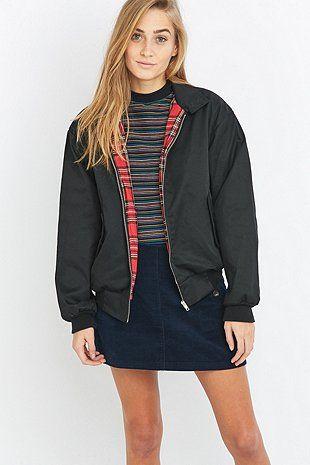 Urban Renewal Vintage Surplus Black Harrington Jacket Jackets For Women Bomber Coat Jackets