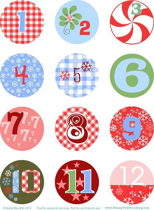 diy freebie christmas advent calendar on weihnachten pinterest. Black Bedroom Furniture Sets. Home Design Ideas