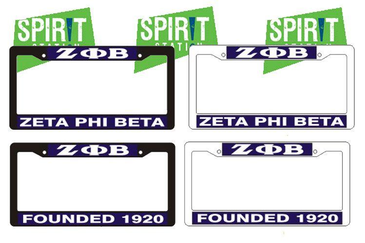 Zeta Phi Beta Plastic License Plate Frame   Zeta Phi Beta ...