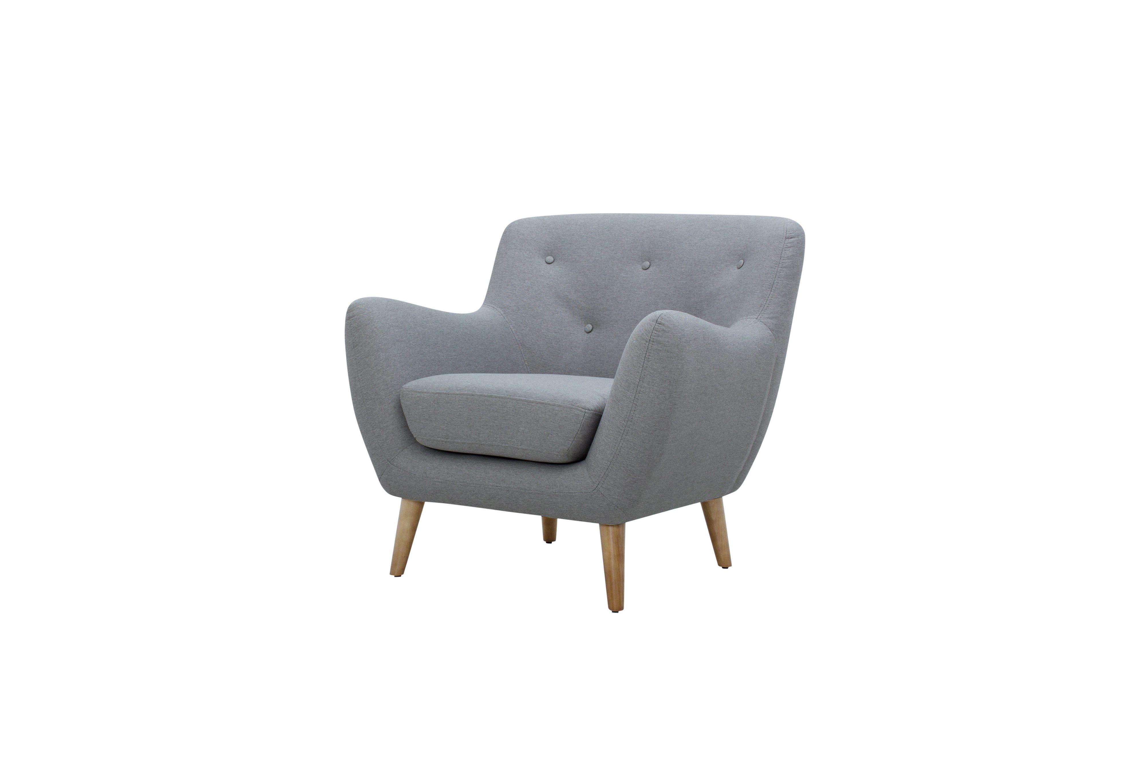 Craquez pour sa couleur originale, le fauteuil scandinave MILO tissu gris  clair - BUT 3cce297c91e9