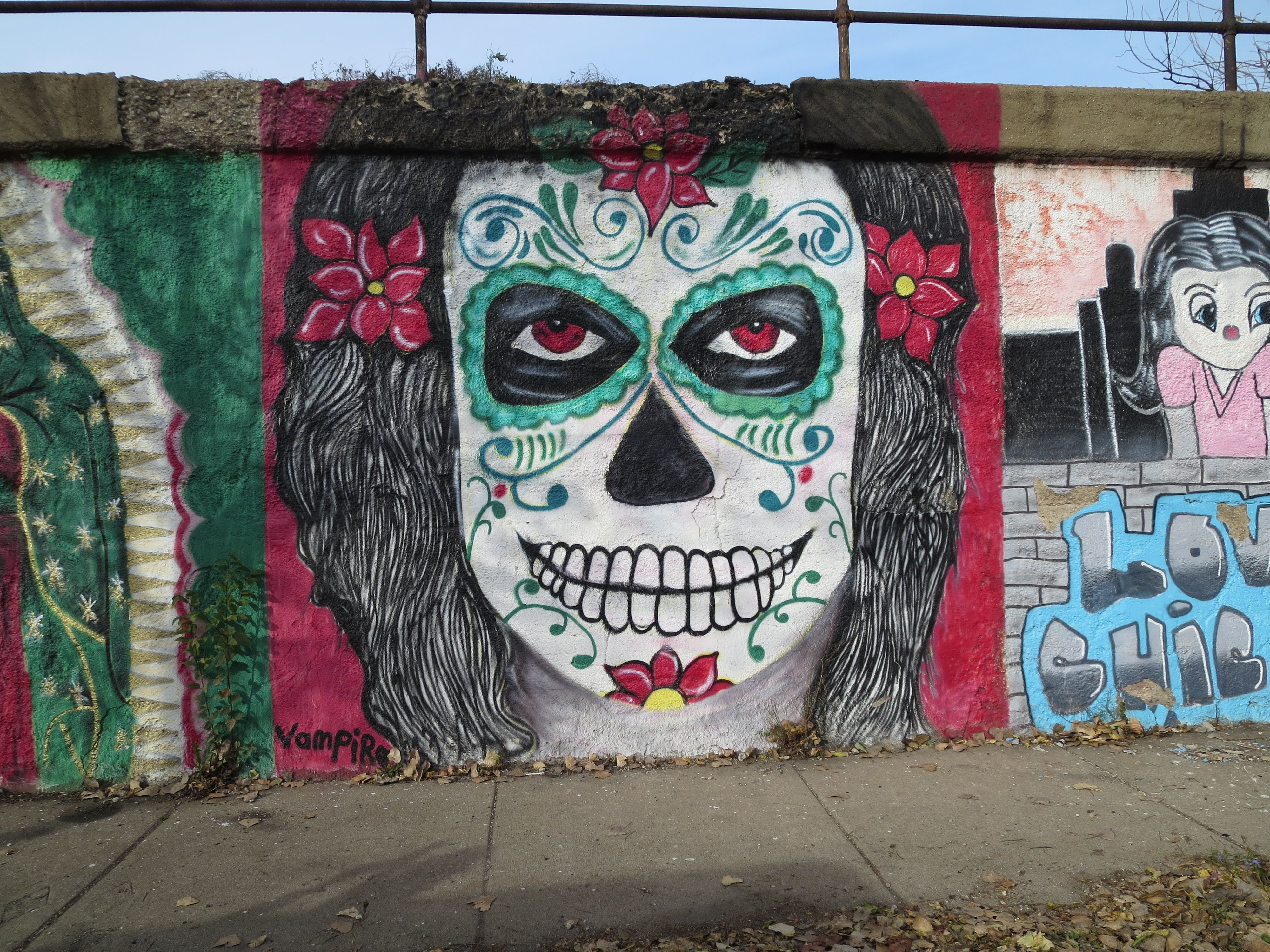 Pilsen Day Of The Dead Mural Chicago
