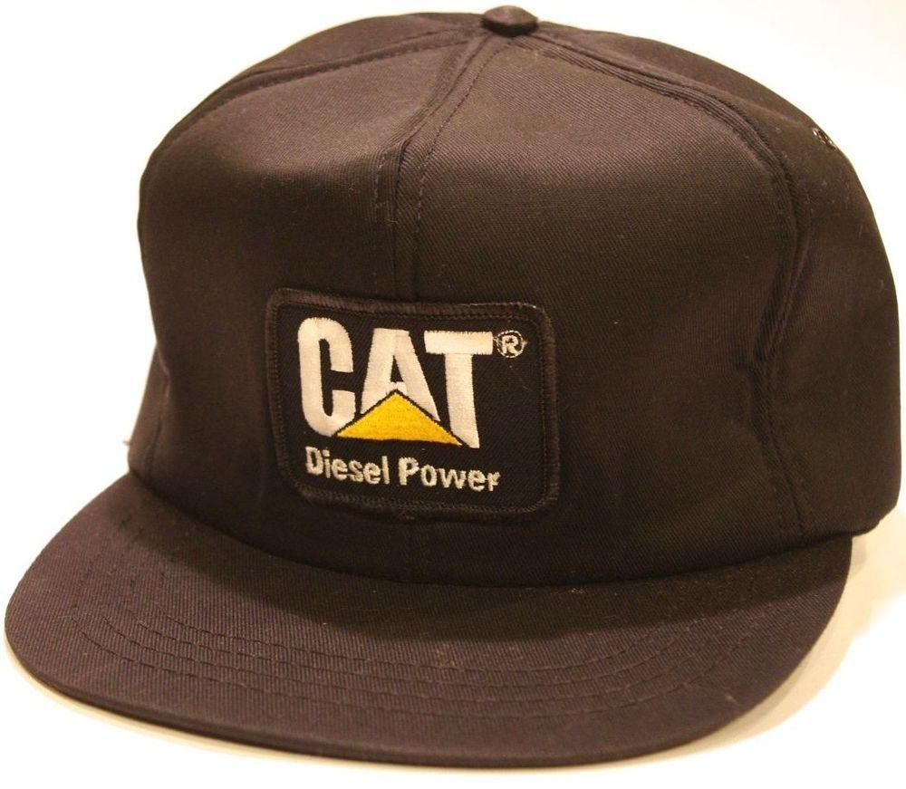 nos CAT USA vtg DIESEL POWER Snapback FOAM Trucker Hat new Caterpillar Cap  Black  Cat efe7c29f9f12