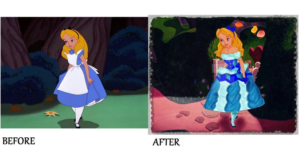 Before and After Alice Unready For Her UnBirthday by 1angel0wings1 on DeviantArt