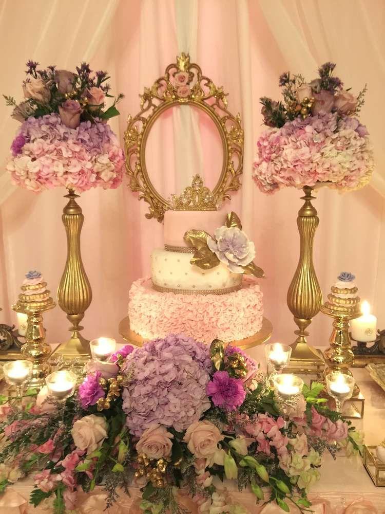 Princess garden baby shower party ideas garden baby for Princess dekoration