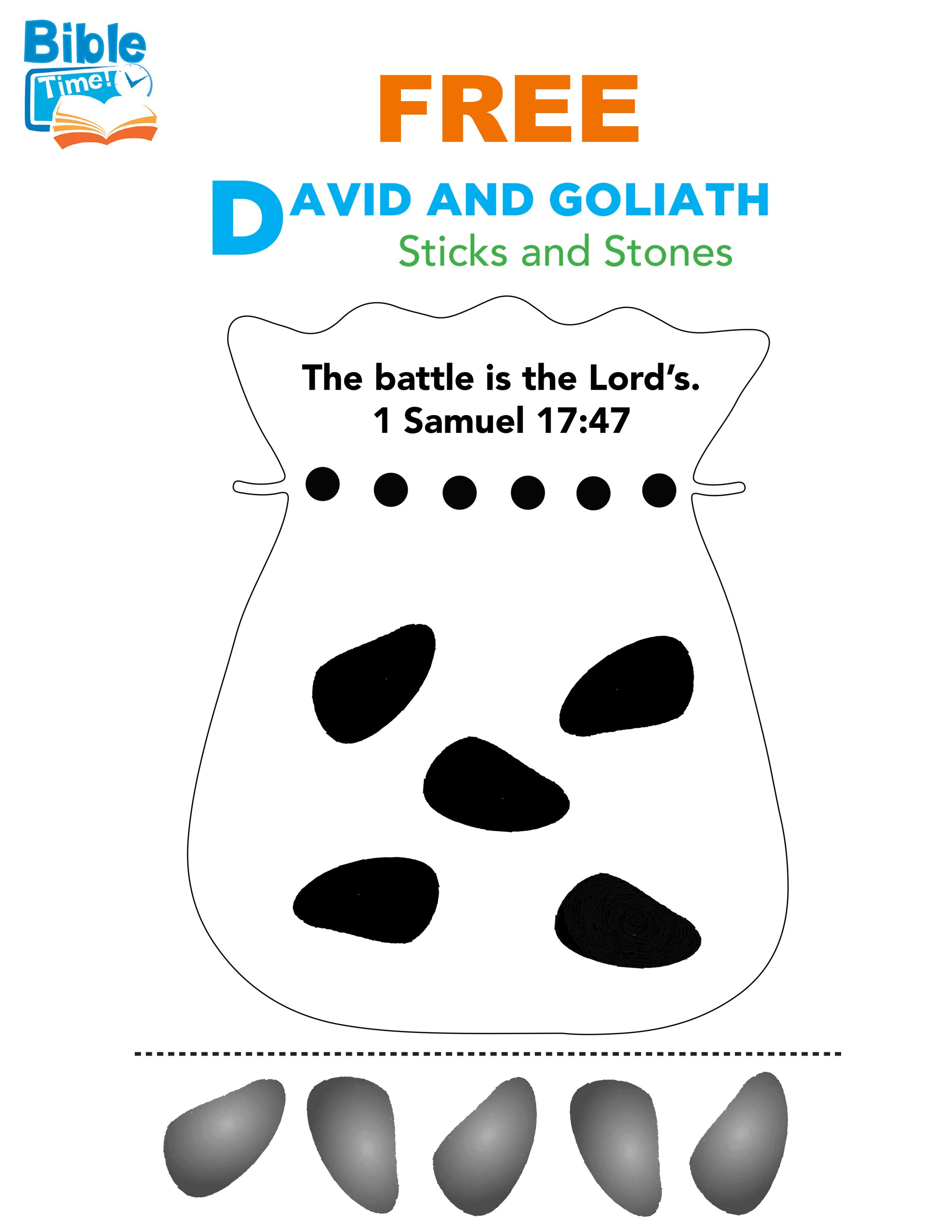 Free David Amp Goliath Preschool Bible Activity Easy Kids