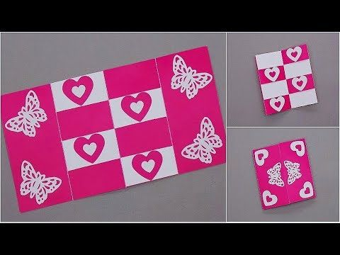 Diy Secret Message Card Tutorial Card For Scrapbook This Tutorial Video On How To Make Handmade Valentine Valentines Day Cards Handmade Valentines Cards
