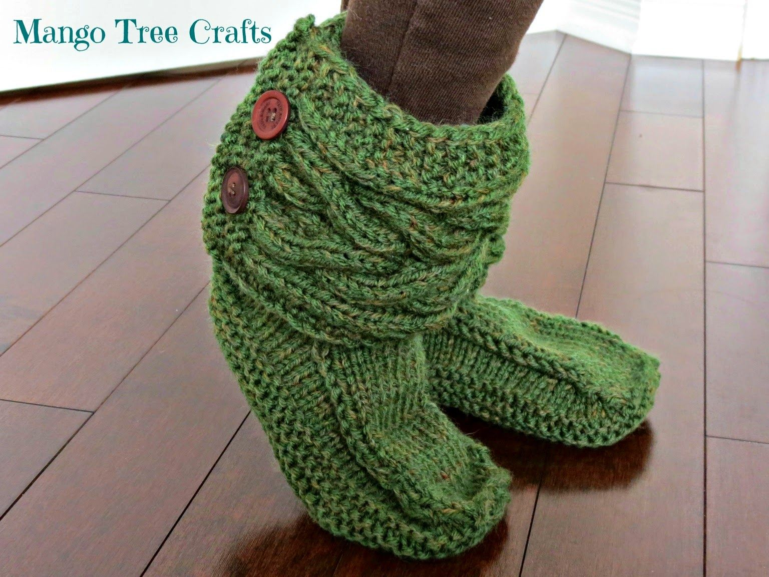 Knitted slipper boots with link to patterns | Crochet ideas and ...