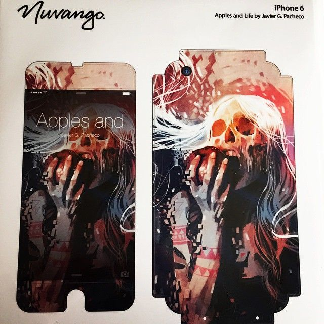 """""""It finally came in!!! I've been waiting for this!!! These things are awesome, it fully customizes my iPhone 6. I trust this company, the original company name was GELASKINS but now it's called NUVANGO. Look them up. It's custom artwork for any of your mobile devices. #nuvango #iPhone6 #customize #artwork #applesandlife #javierGpacheo"""" via http://instagram.com/p/wZIwBMiOsy/"""