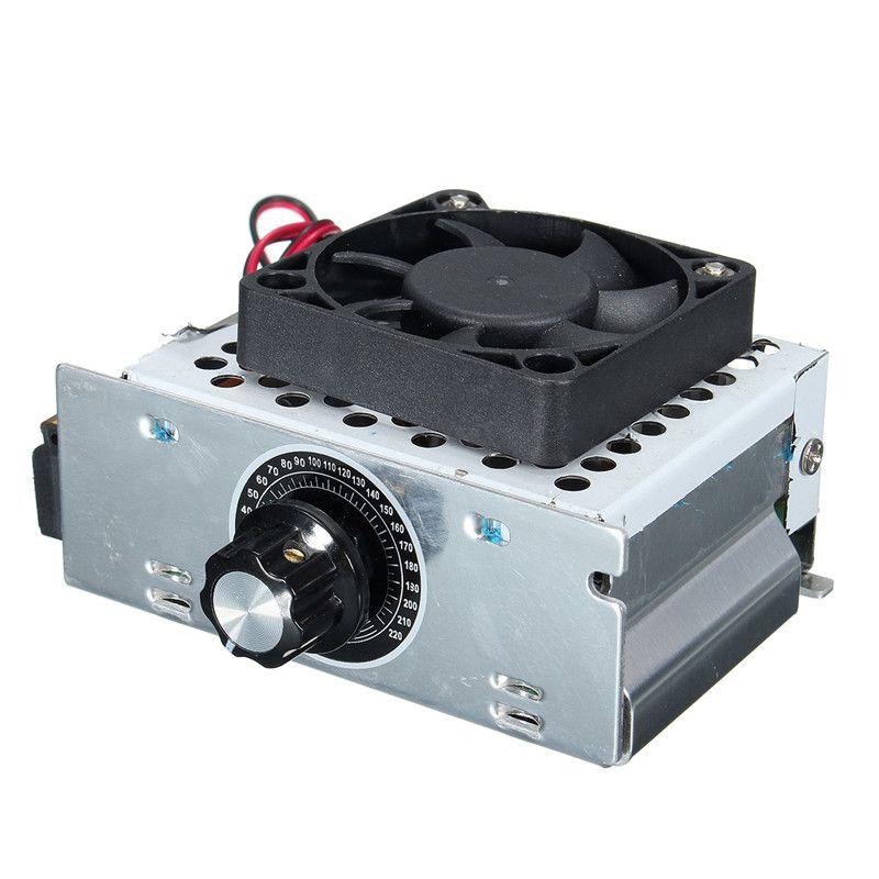 4000W AC 0-220V Voltage Regulator Motor Speed Controller Fan Thermostat Dimmer
