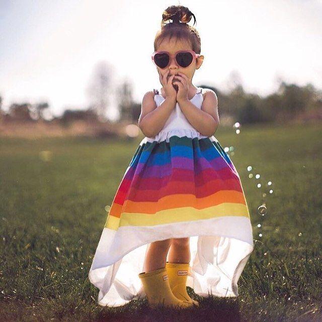 Princess Dress Baby Girls Rainbow Tutu Dresses Backless Strap Sleeveless