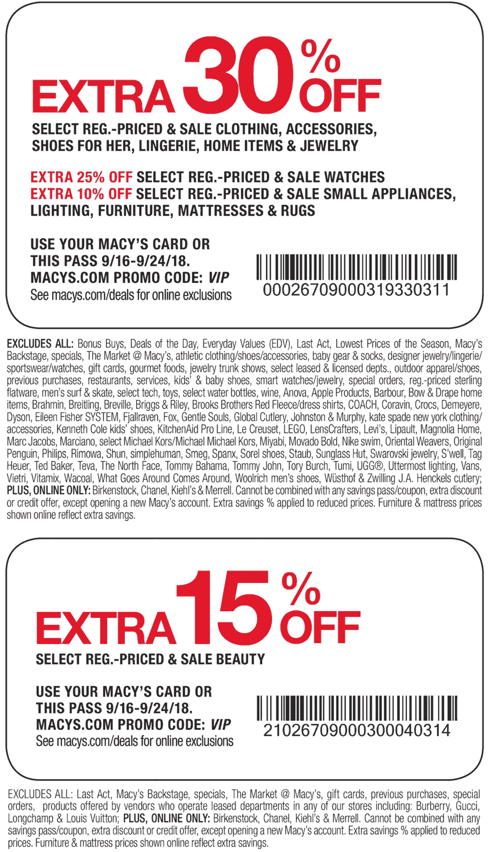 Pinned September 17th Extra 30 Off At Macys Or Online Via Promo Code Vip Thecouponsapp Shopping Coupons Macys Card Macys Promo