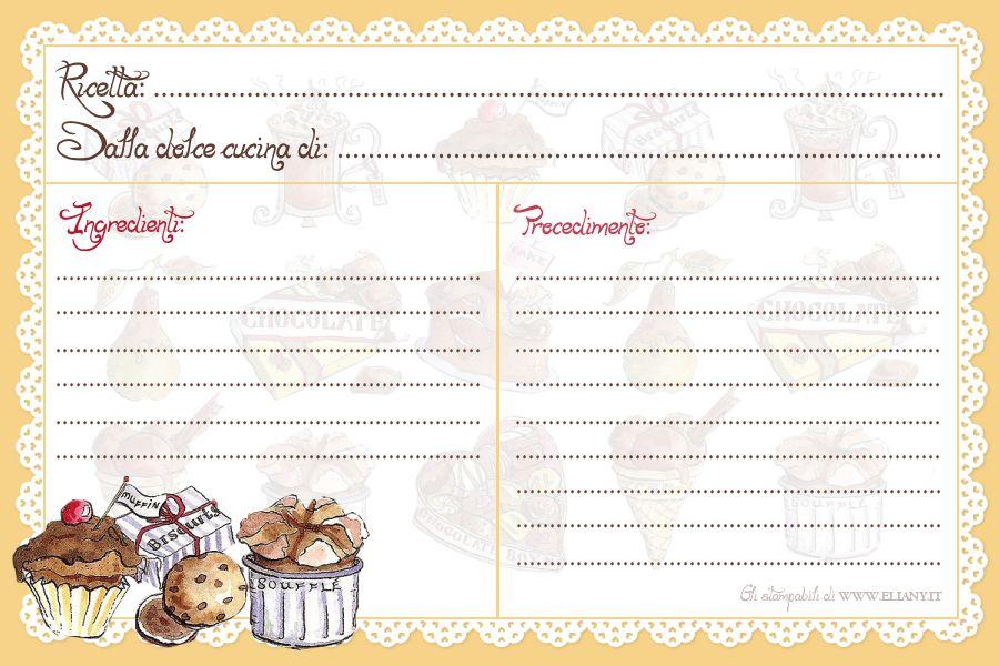 Fabuleux ricettario | Ricettario per cucina e liste per spesa stampabili  BC42