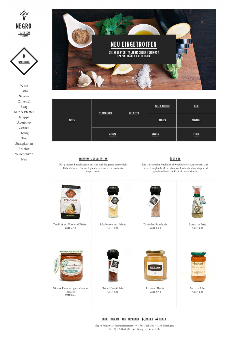 Negro Feinkost – Iwan Negro | web | Pinterest | Web layout, Web ...