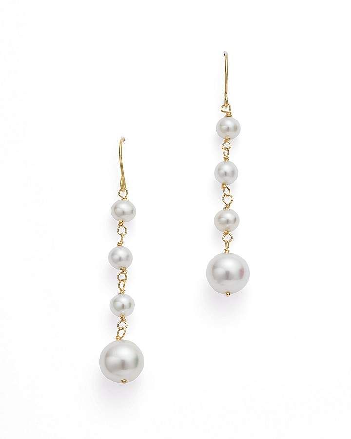 0dd0d42bb98 Bloomingdale s Graduated Cultured Freshwater Pearl Drop Earrings in 14K  Yellow Gold - 100% Exclusive